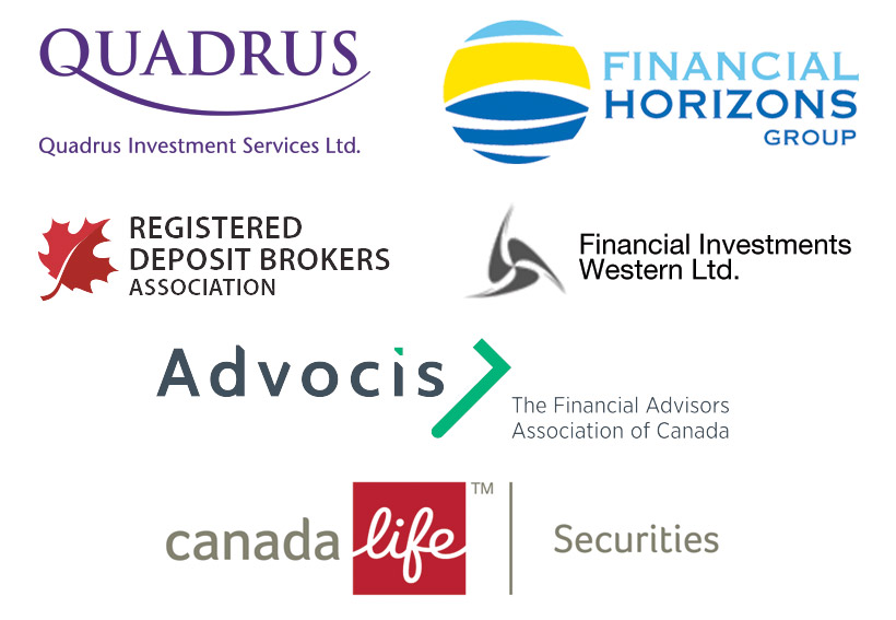 Partners and Memberships: Quadrus Investment Services Inc.; Financial Horizons Group; Registered Deposit Brokers Association; Financial Investments Western Ltd.; Advocis - The Financial Advisors Association of Canada; Canada Life Securities